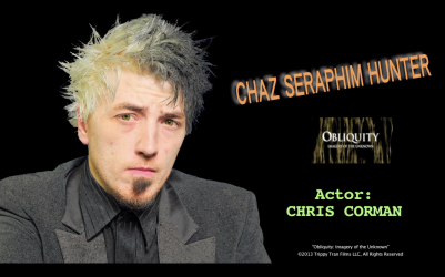 Chaz Seraphim Hunter - Character Promo still Obliquity full yt